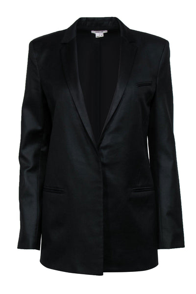 Current Boutique-Helmut Lang - Black Single Button Slim Blazer Sz 8