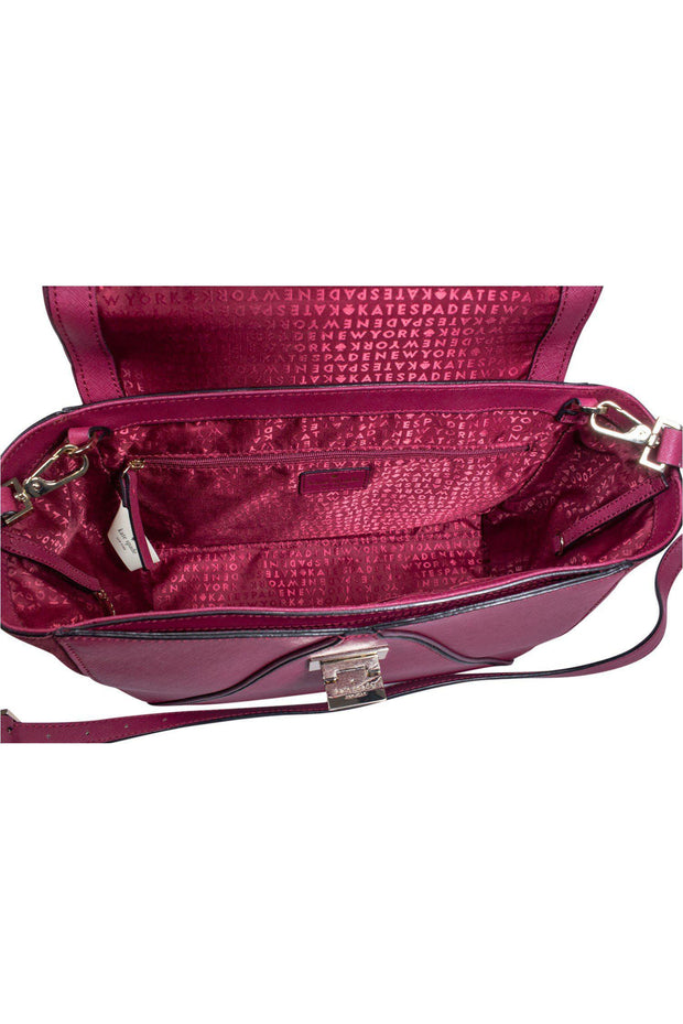 Current Boutique-Kate Spade - Raspberry Pink Envelope Style Satchel