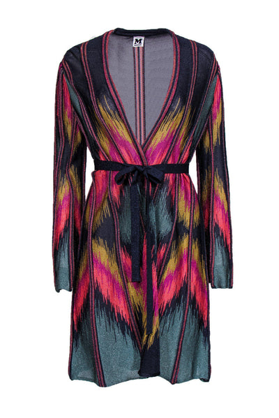 Current Boutique-Missoni - Long Multi-Colored Cardigan w/ Belt Sz 12