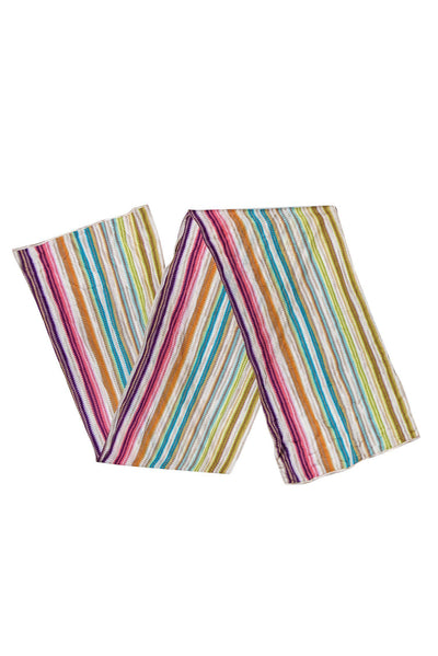 Current Boutique-Missoni - Multicolored Striped Silk Scarf