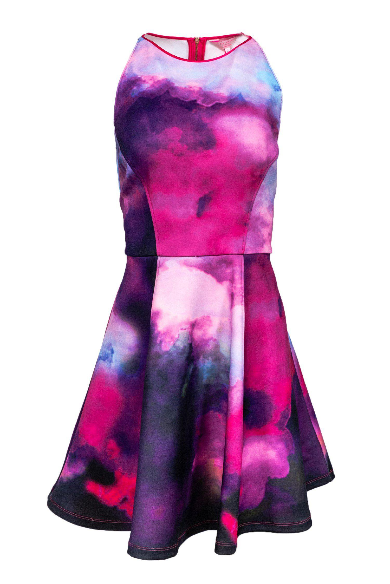 Ted Baker - Multicolored Fit & Flare Dress Sz 6