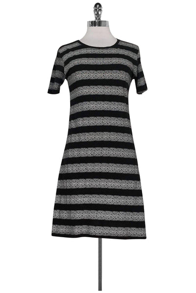 Current Boutique-Theory - Black & White Cotton Dress Sz S