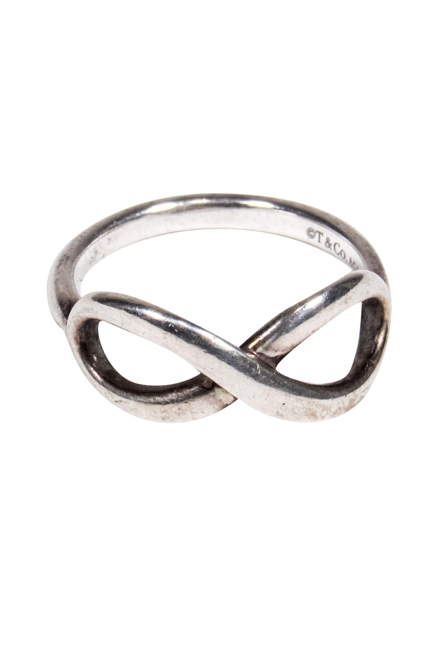 Tiffany & Co. - Silver Infinity Band Ring Sz 4