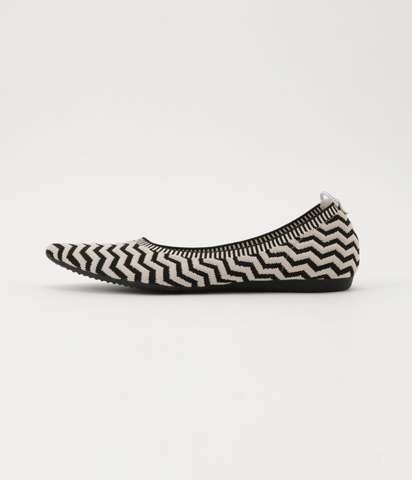 tribal stripe pattern BLACK/BEIGE 側面