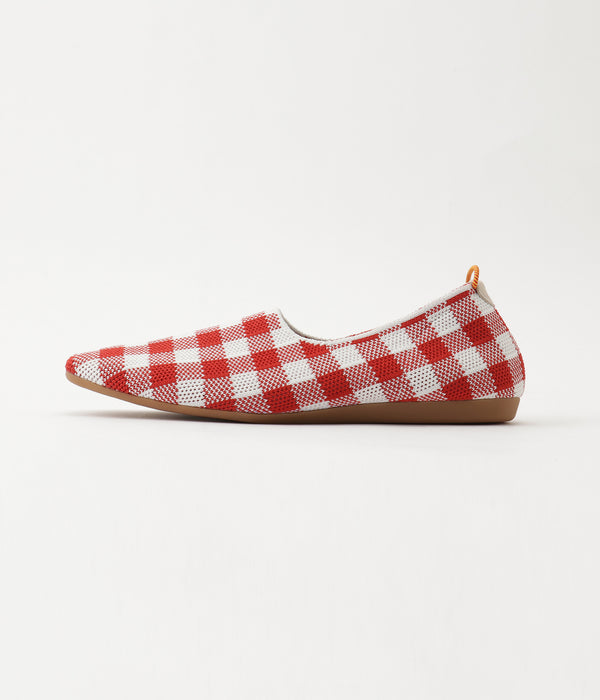 gingham check pattern RED/WHITE 側面