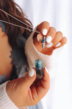 Load image into Gallery viewer, Rainbow fluorite- essential oil vial necklace