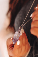 Load image into Gallery viewer, SILVER-Essential Oil Vial Necklaces