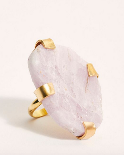Large Raw Stone Ring