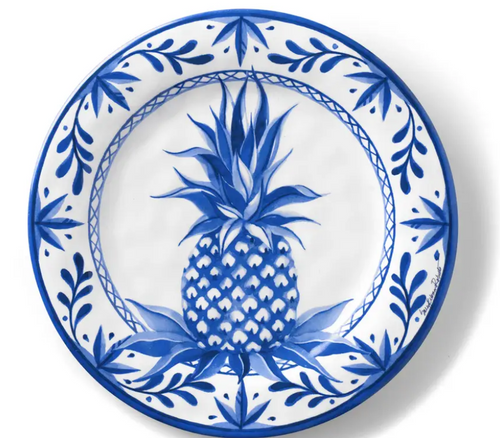 Blue Pineapple Bamboo Salad Plate