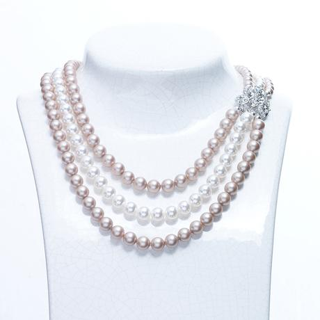 Cliona Triple Almond Mix necklace