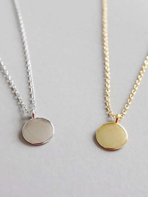 Gold Disc Necklace and Cubic Zirconia Huggie Set