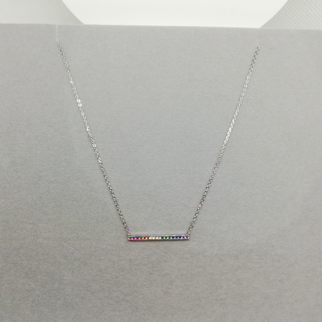 Sterling silver multi colour Necklace