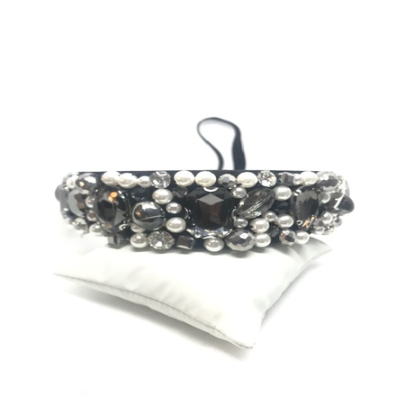 Black and Pearl Thick Hairband