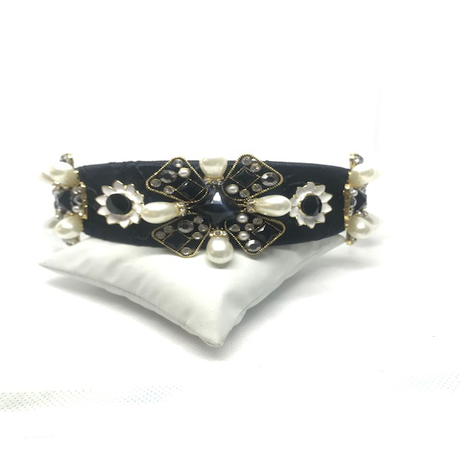 Ivory Black and Gold Hairband