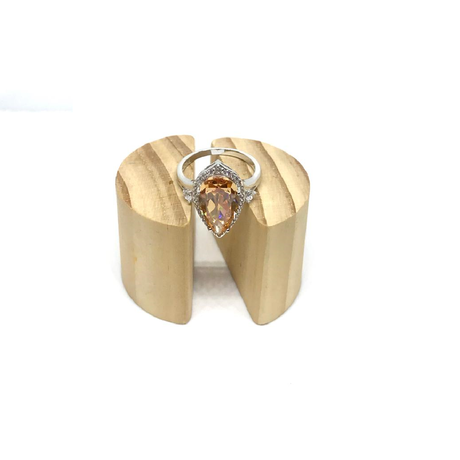 Amber Pear Shaped Ring