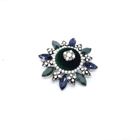 Sapphire and baby pearl Brooch