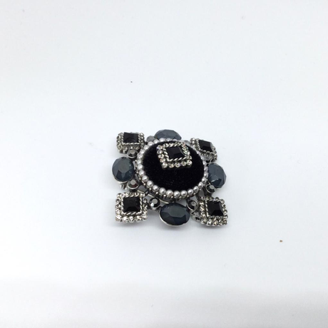 Black Velour Brooch