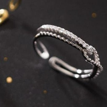Silver Knot Open Ring