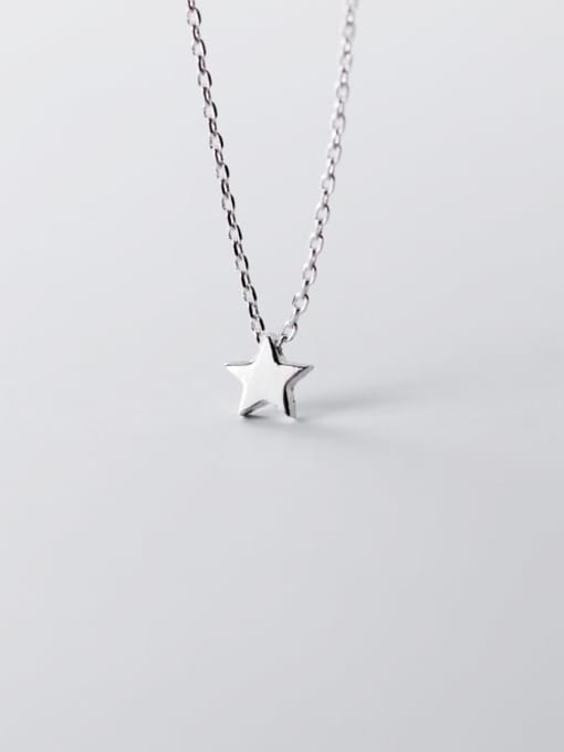Minimalistic Sterling Silver Star Necklace