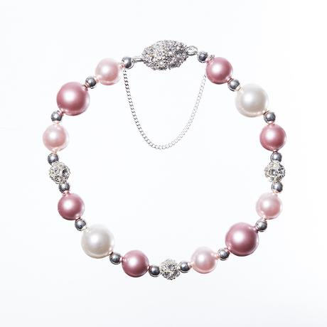 Alison Bracelet Pink with magnetic clasp