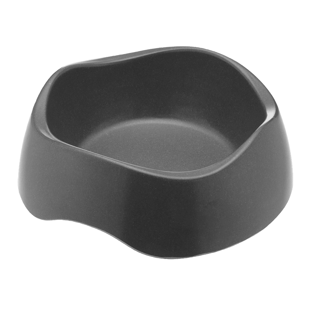 Bamboo dog bowl black