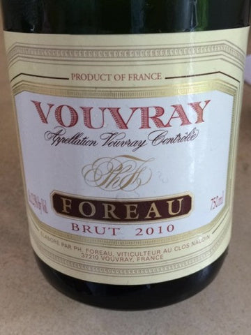 Foreau Vouvray Brut 2010