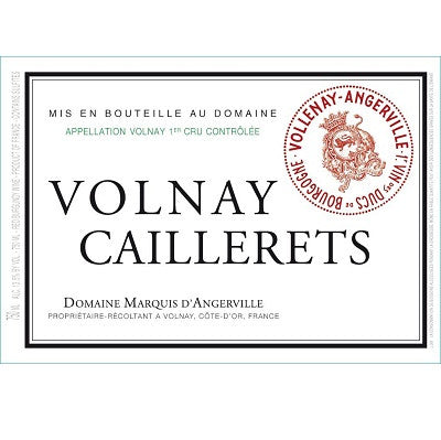 Marquis d'Angerville Volnay 1er Cru Caillerets 1995
