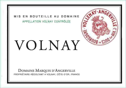 Marquis d'Angerville Volnay 2009