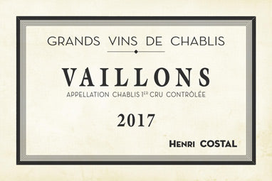 Domaine Costal Chablis 1er Cru Vaillons 2017