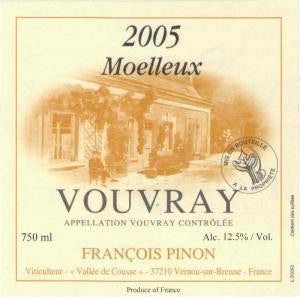 Francois Pinon Vouvray Moelleux 2005