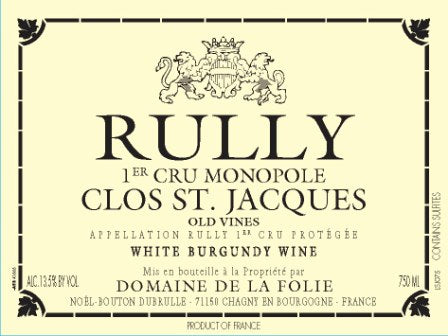 Domaine de la Folie Rully Clos Saint-Jacques 2015