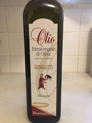 Romanelli Extra Virgin Olive Oil Moraiolo (Umbria) 2016 750ml