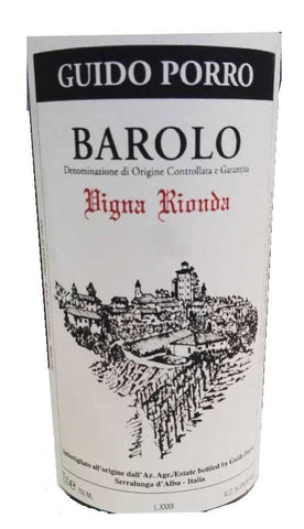 Guido Porro Barolo Vigna Rionda 2015 in stock