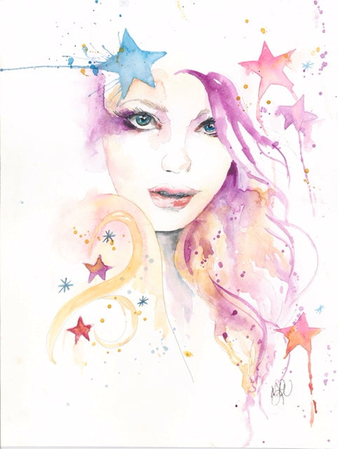 Watercolor Original Magical Stargirl