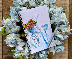Journal Gift set Blue Bicycle