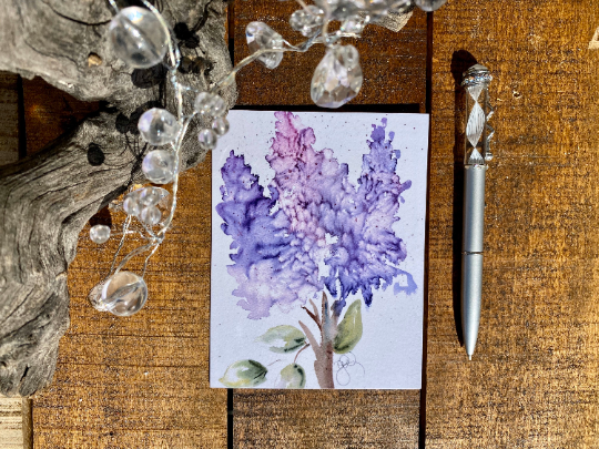 Card Purple Hyacinth