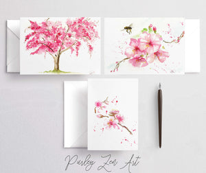 Card Gift Set Cherry Blossoms