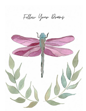 Card Dragonfly Follow Your Dreams