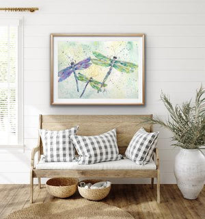 Print Watercolor Dragonflies