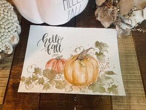 Print Watercolor Fall Glamour