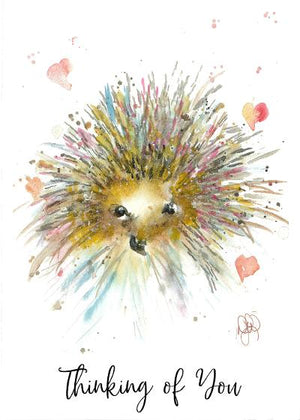 Card Thinking of You Hedgehog