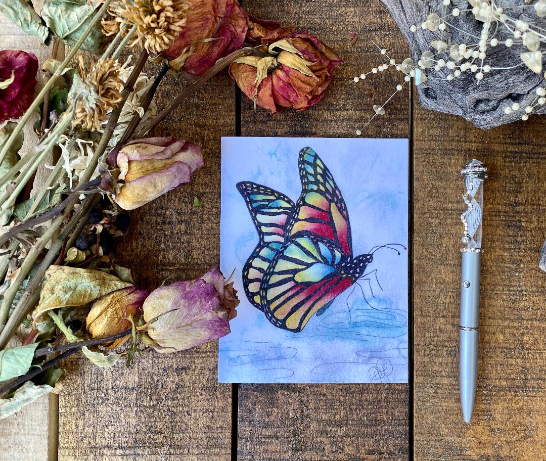 Card Rainbow Butterfly