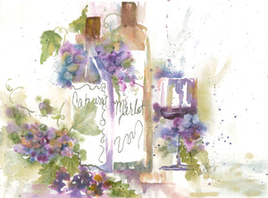 Watercolor Original Winery La Dolce Vita