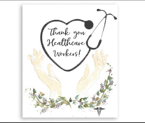 Card Thank you Healthcare Workers