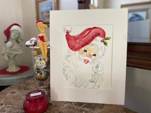 Watercolor Original Santa Claus