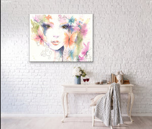 Canvas Print Butterfly Bohemian