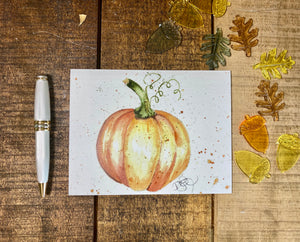 Card Fall Set Pumpkins and Acorns