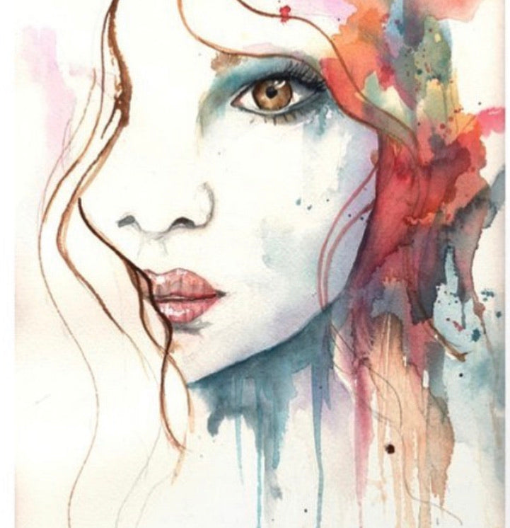 Watercolor Original Red Bohemian