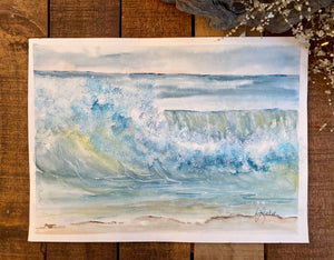 Watercolor Original Evening Wave