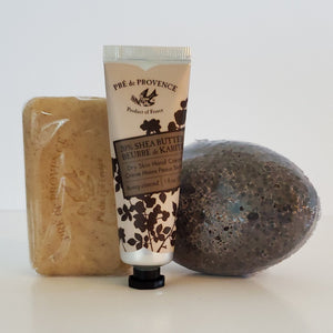Honey Almond Shea Butter Soap and Hand Cream w/ Pumice Set